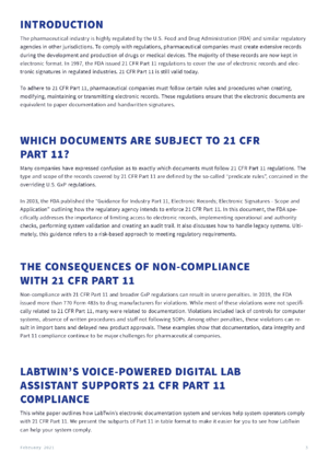 21 CFR Part 11 Compliance with LabTwin - p3